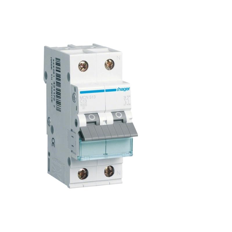 Hager MCN513 LS-Schalter 13A/1pol+N/C 6kA