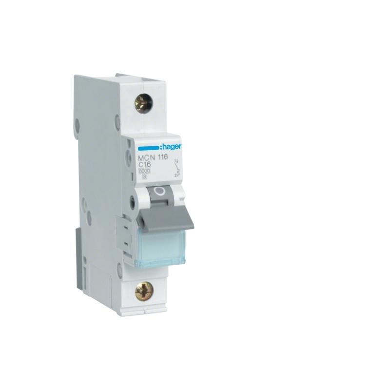 Hager MCN116 LS-Schalter 16A/1pol/C 6kA