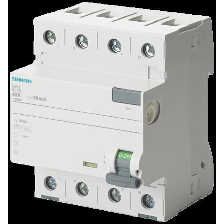 Siemens 5SV3344-6LA01 FI-Schutzschalter KL.G/A 4Pol. 40A Vs 30mA