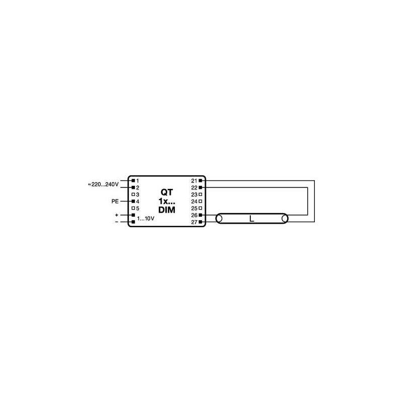 ledvance qt 1x36 dim elektrik store. Black Bedroom Furniture Sets. Home Design Ideas