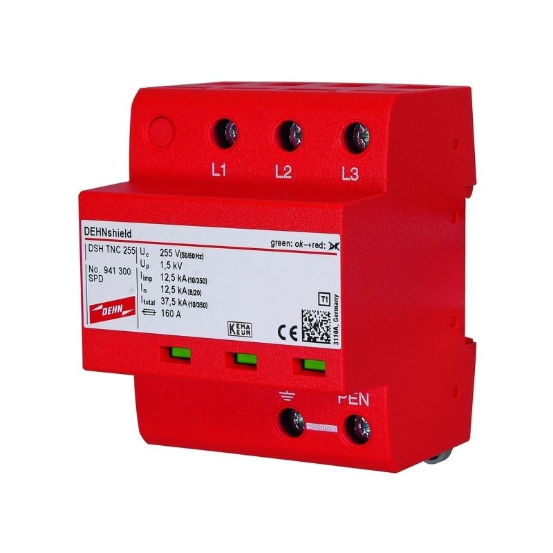 Dehn 941300 Überspannungsableiter Typ 1+2 3pol TNC 255VAC 3x12,5kA