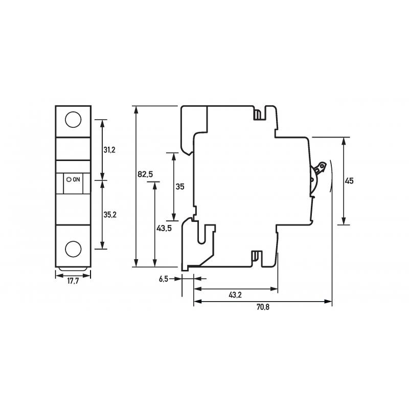 Doepke Leitungsschutzschalter DLS 6H B13-1 6 kA Leitungsschutzschalter 4014712161757