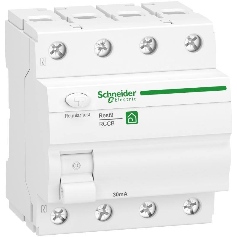 Schneider R9R22463 Fehlerstrom-Schutzschalter Resi9, 3P+N, 63A, 30mA, Typ A