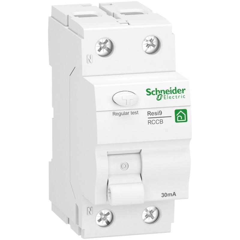 Schneider R9R42225 Fehlerstrom-Schutzschalter Resi9, 1P+N, 25A, 30mA, Typ F