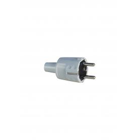 ABL 1418080 SCHUKO PVC-Stecker, weiß, 2 Erdungssysteme