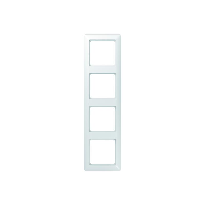 Jung AS 584 BF WW Rahmen, 4fach, bruchsicher, für waagerechte und senkrechte Kombination
