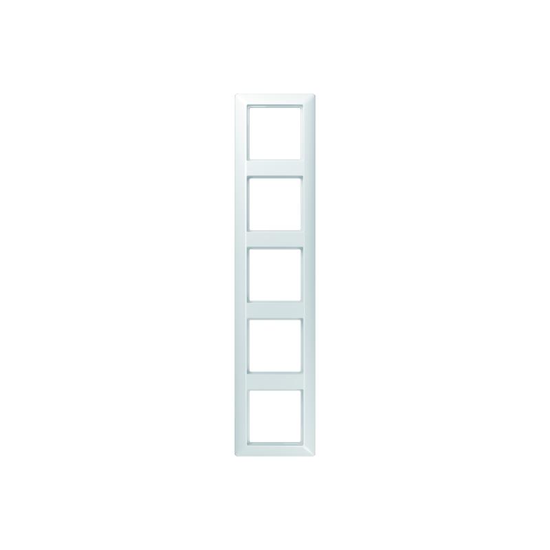 Jung AS 585 BF WW Rahmen, 5fach, bruchsicher, für waagerechte und senkrechte Kombination