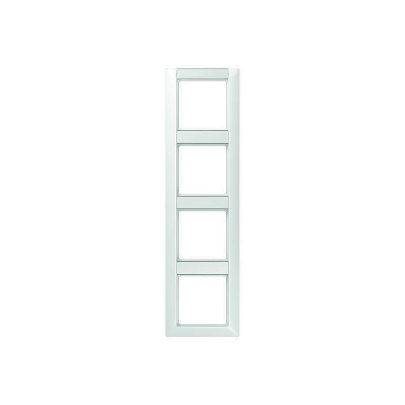 Jung AS 584 NA WW Rahmen, 4fach, Schriftfelder 13/12,4 x 55,5 mm, für senkrechte Kombination