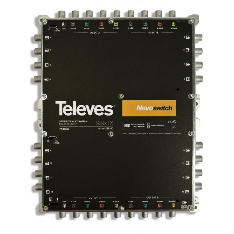 Televes MS916C 9 in 16 Guss-Multischalter NEVO, kask. ohne NT (MS-NT1208N) 714603