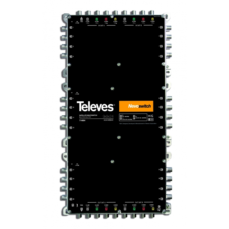 Televes MS924C 9 in 24 Guss-Multischalter NEVO, kask. ohne NT (MS-NT1208N) 714604