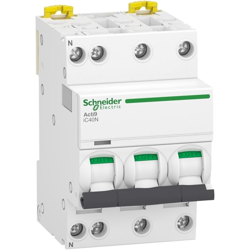 Schneider A9P54716 iC40N Leitungsschutzschalter 3P+N 16A C 6kA
