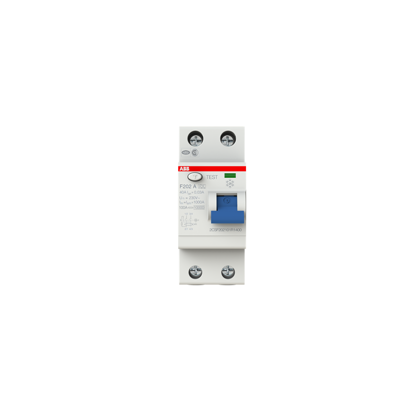 30mA 40A ABB F202A-40//0,03 FI-Schutzschalter 2P,Typ A